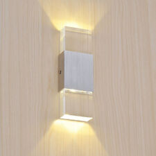 Dimmable 2W Crystal LED Wall Sconce Light Up/Down Lamp Fixture Bedroom Hallway