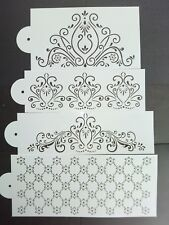 Damask Baroque Stencil Cardmaking Scrapbooking Airbrush Painting Home Decor Cake