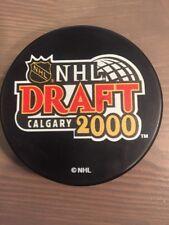 2000 NHL Draft Souvenir Hockey Puck Calgary Flames
