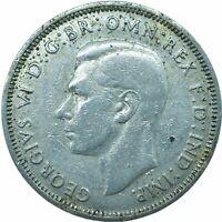 1941 HALF PENNY KING GEORGE VI. - SILVERED   #WT19911