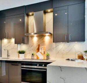 Super Matt Light Grey Acrylic Kitchen Door