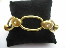 Bijou bracelet rétro couleur or gros maillons sertis de cristaux 3262