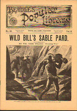 dime novel; BEADLE'S POPULAR LIBRARY #48: Wild Bill's Sable Pard, NMint cond