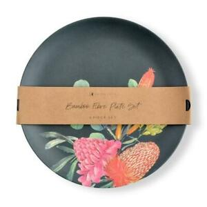 Kaiserstyle Bamboo Plate Set Banksia 4pc