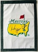 Arnold Palmer Masters golf flag jack nicklaus gary player signed beckett loa