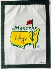 Arnold Palmer jack nicklaus gary player signed Masters golf flag 2018 masters