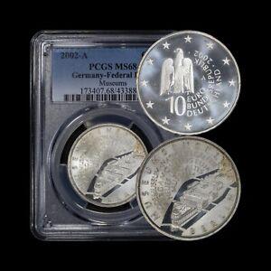 GERMANY. 2002, 10 Euro, Silver, A - PCGS MS68 - Top Pop 🥇 Berlin Museum Island