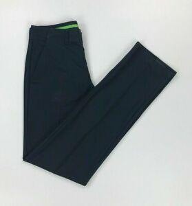 Men's Navy Blue Boss Hugo Boss Trousers W30 L34 Golf Slim Fit Hakan 7 Green A
