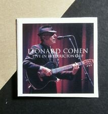 LEONARD COHEN LIVE AT FREDERICTON PHOTO MICROPHONE  1x1 SMALL MUSIC STICKER