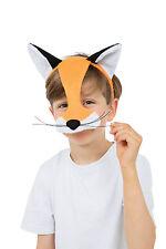 CHILD FOX HALF FACE MASK FANCY DRESS ANIMALS & NATURE ACCESSORY