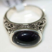 Wow factor Designer 925 Sterling Silver 5CT Amethyst Filigree Modern Ring Sz 7.5
