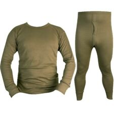 ARMY GREEN THERMAL TOP & BOTTOMS BASE LAYER LONG JOHNS LONG SLEEVE T-SHIRT VEST