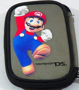 Nintendo DS Case Handheld Nylon Fabric console Games Pouch Mario Gray Travel