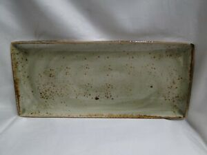 "Steelite Craft, England: NEW Green Rectangular Tray (s), 14 1/2"" x 6 1/2"""