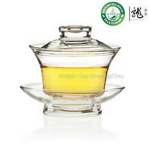 Thé Gongfu Traditionnel Verre Clair Gaiwan 150ml FH-333