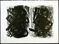 Untitled, 1982. Grosse Lithographie Franz HITZLER (*1946 D) handsigniert, 24/30