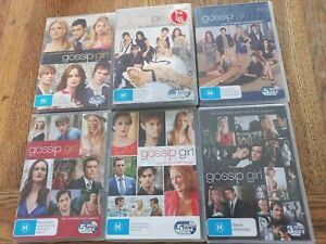 Gossip Girl DVD Complete Series Seasons 1-6 R4 Free Tracked VGC