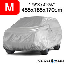 SUV Full Car Cover Breathable Sun UV Snow Dust Rain Resistant Protection M Size