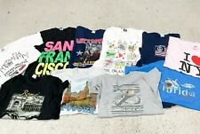 JOB LOT X10 UNISEX VINTAGE DESTINATION T-SHIRTS.