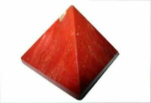 """Lovely Red Jasper Pyramid Approx.1.25"""" Earth Elements Reiki Symbol Pentacle"""