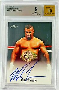 Mike Tyson Signed Leaf Trading Card #FE-MT1 Beckett BGS 9 BAS Auto 10 Graded