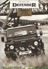 Land Rover Defender 90 - 110 - 130 sales brochure (LRD43/95 1995)