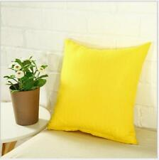 "Simple Solid Square Sofa Throw Cushion Cover Pillow Case Home Decor 18""x18"""