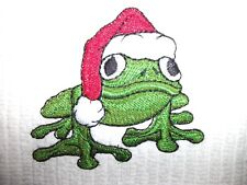 Christmas Frog Design, 100% Cotton, Food Network Bar Mop