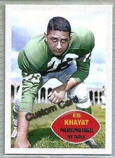 ED KHAYAT PHILADELPHIA EAGLES 1960 STYLE CUSTOM MADE FOOTBALL CARD BLANK BACK