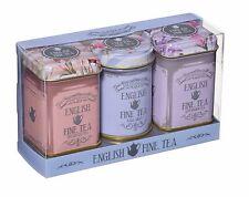 NEW ENGLISH TEAS SELECTION OF ENGLISH FINE TEA IN MEMORABILIA FLORAL TINS 70g