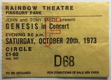 Genesis Original Used Concert Ticket Rainbow Theatre London 1973