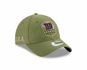 New York Giants New Era 2019 Salute to Service 9Twenty Adjustable Hat - Olive