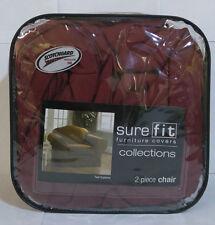 Twill Supreme Chair Cover - 2 Piece, Merlot