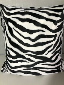 "Faux Fur Zebra Print 16""/18""/20"" Square Cushion Cover"