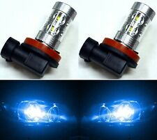 LED 50W H11 Blue 10000K Two Bulbs Fog Light Replacement Plug Play Show Use