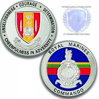 Royal Marines 43 Commando Memorabilia Silver Challenge Spoof Coin Medal