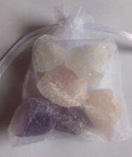 150g Roh Edel Steine Amethyst,Bergkristall,Rosenquarz-Wasser-Basis Mischung