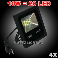 4X 10W Cool White LED Flood Light Outdoor Security Garden Landscape Spot Up Lamp