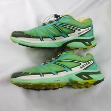Salomon Wings Pro 2 mens Trail Running Shoes - mint green size 8