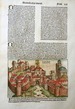 IRAQ Nineveh Tigris Mosul Journal World Chronicle view Assyrian king schedel 1493