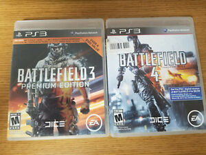 Lot of 2 Playstation 3 Battlefield 3 & 4 Video Games Complete