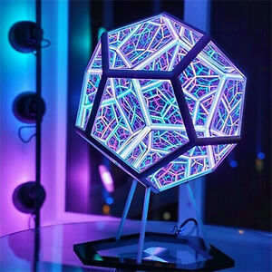 InfiniteX™ Lamp - Infinite Dodecahedron Color Art Light
