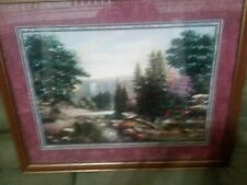 Home Interiors Joe Sambataro Framed Print Crystal Springs Waterfall & Trees