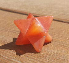 NATURAL CARNELIAN GEMSTONE MERKABA STAR (ONE) - BUY IT NOW