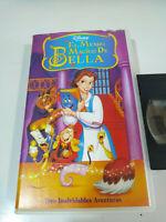 El Mundo Magico de Bella Tres Aventuras Walt Disney - VHS Cinta Tape Español