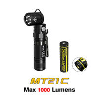 NiteCore MT21C Cree XP-L HD LED Adjustable Head Flashlight Torch + USB Battery