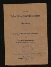 Über die Wehrwölfe 1850 Thierverwandlungen im Mittelalter Leubuscher Wehrwolf