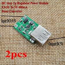 2pcs DC Step Up Regulator Power Module Female USB 0.9-5V To 5V 600mA Converter
