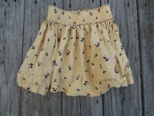 Hanna Andersson ~ Girls Yellow Floral Mini Skirt ~ Size 4-5