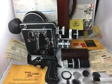 1959 BOLEX H16 REX REFLEX-2 Movie Camera 4 Lenses Grip, Manuals, Original Case +